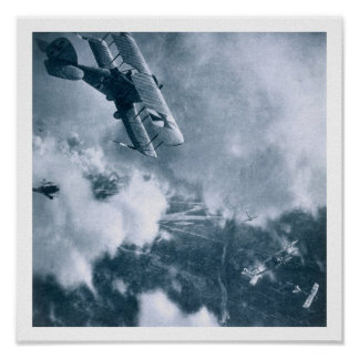 Aerial Combat on the Western Front, World War One, Poster