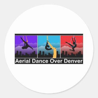 Aerial Dance Over Denver Classic Round Sticker