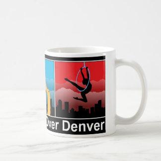 Aerial Dance Over Denver Classic White Coffee Mug