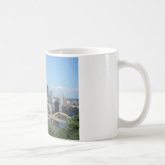 Aerial Downtown Pittsburgh Skyline Coffee Mug