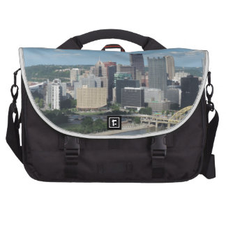 Aerial Downtown Pittsburgh Skyline Commuter Bags