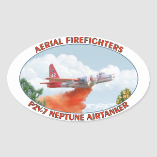 Aerial Firefighters Airtanker Oval Sticker