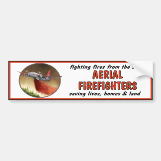 Aerial Firefighters Bumper Sticker