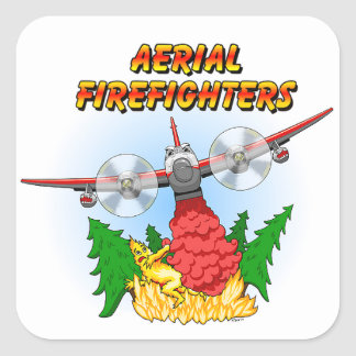 """Aerial Firefighters """"Muddy"""" Square Sticker"""