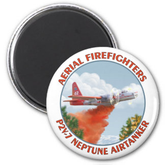 "Aerial Firefighters P2V 3"" Round Magnet"