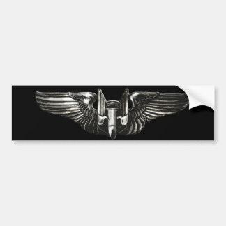 Aerial Gunner Wings Bumper Sticker Car Bumper Sticker