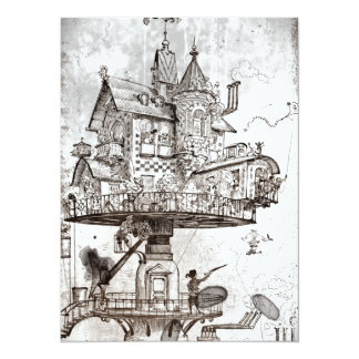 Aerial House Maison Tournante Personalized Invitation