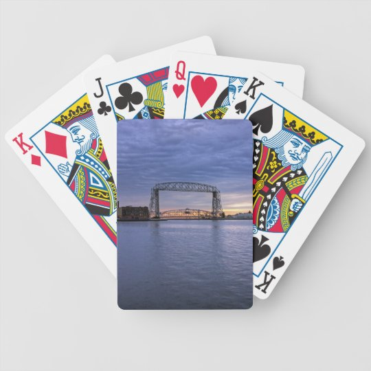 Aerial Lift Bridge Bicycle Playing Cards