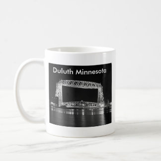 Aerial Lift Bridge Black & White photo Coffee Mug
