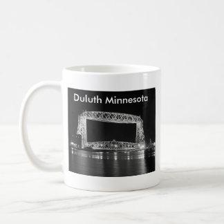 Aerial Lift Bridge Black & White photo Coffee Mug