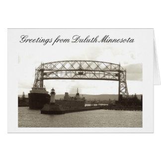 aerial lift bridge, duluth mn card