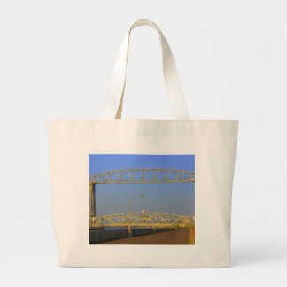 Aerial Lift Bridge from North Pier Large Tote Bag