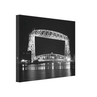 Aerial Lift Bridge in black & white Canvas Prints
