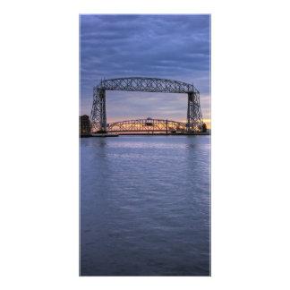 Aerial Lift Bridge Photo Greeting Card