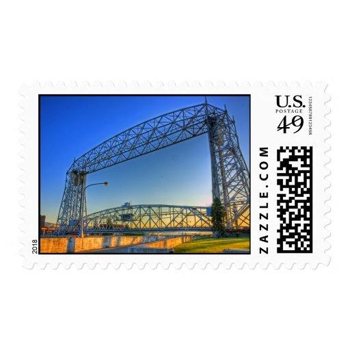 Aerial Lift Bridge Postage Stamp