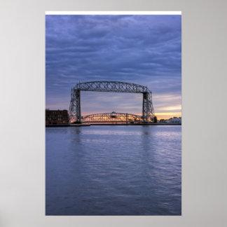 Aerial Lift Bridge Poster