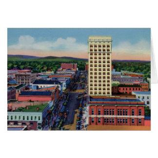 Aerial Main Street at Greenville South Carolina Card