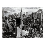 Aerial Manhattan Black & White Photograph Postcard