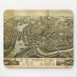 Aerial Map City of Norwich Connecticut (1876) Mouse Pad