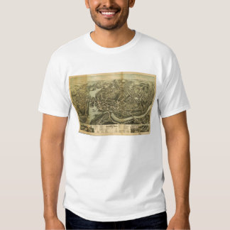 Aerial Map City of Norwich Connecticut (1876) T-shirt