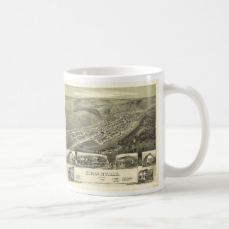 Aerial Map of Girardville Pennsylvania (1889) Coffee Mug