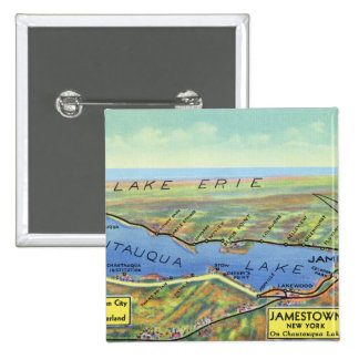 Aerial Map of Lake and Surrounding Towns Pins
