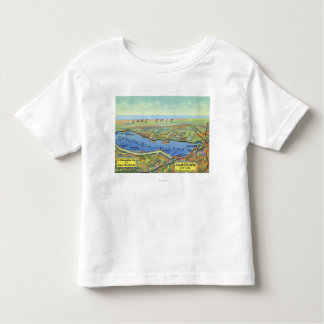 Aerial Map of Lake and Surrounding Towns Shirt