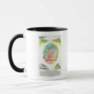 Aerial Map of Santa Clara County with Sites Mug