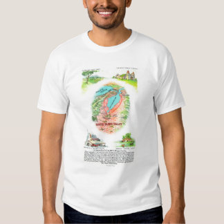 Aerial Map of Santa Clara County with Sites T Shirt