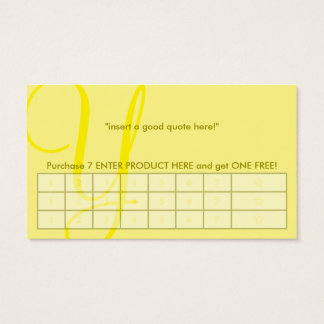 aerial monogram yellow punch card