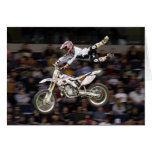 aerial moto-cross #4 with crowd greeting card