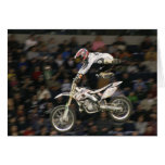 aerial moto-cross #7 with crowd greeting card