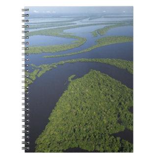 Aerial of Anavilhanas Archipelago, Flooded Notebook