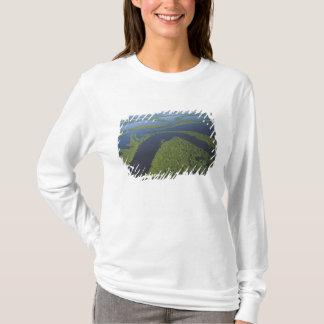 Aerial of Anavilhanas Archipelago, Flooded T-Shirt