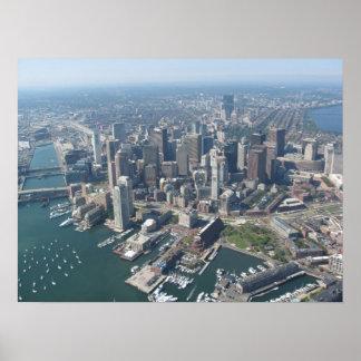 Aerial of Boston Skyline Print