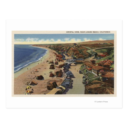 Aerial of Crystal Cove Postcard