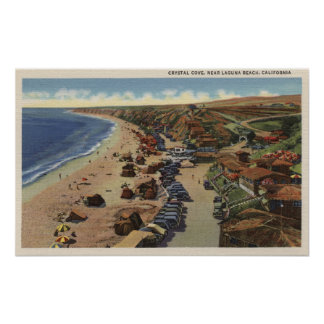 Aerial of Crystal Cove Poster