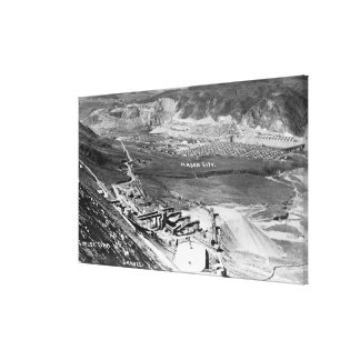 Aerial of Dam and Mason City Gallery Wrap Canvas