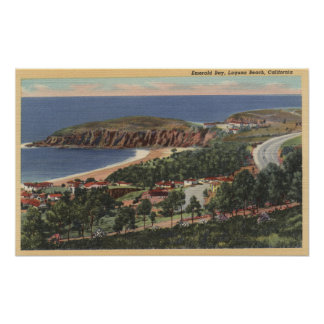 Aerial of Emerald Bay Poster