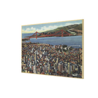 Aerial of Entire Downtown Canvas Print