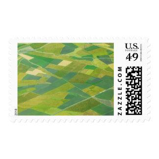 Aerial Of Farmlands In Ethiopia Postage Stamp
