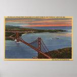 Aerial of Golden Gate Bridge & Bay Area Poster