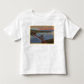 Aerial of Golden Gate Bridge & Bay Area Toddler T-shirt