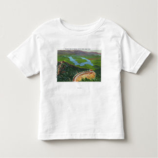 Aerial of Memorial Hwy, Castle, Summit House Toddler T-shirt
