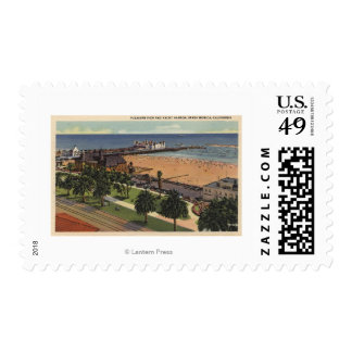 Aerial of Pleasure Pier & Yacht Harbor Stamps