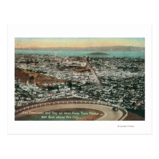 Aerial of the City from the Twin Peaks Postcard