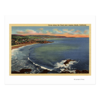 Aerial of the Coves Along the Coast Postcards