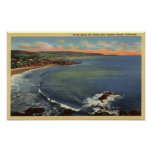 Aerial of the Coves Along the Coast Print