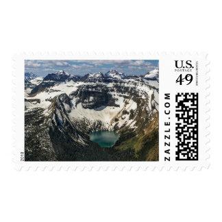 Aerial Of Warderman Lake Postage Stamp