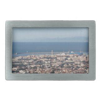Aerial panorama of Livorno city Tuscany Italy Rectangular Belt Buckle